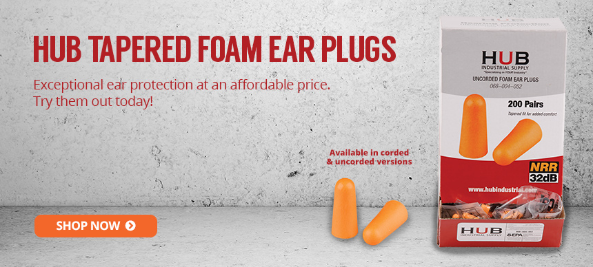 HUB Tapered Foam Ear Plugs